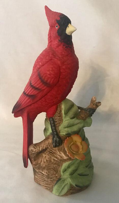 VINTAGE UCGC FIGURINE CARDINAL BIRD CERAMIC EXCELLENT