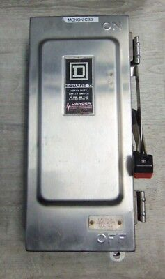 Nice Square D H361ds Fusible Stainless Steal Safety Switch 30 Amp 600 Volt 3 Pol