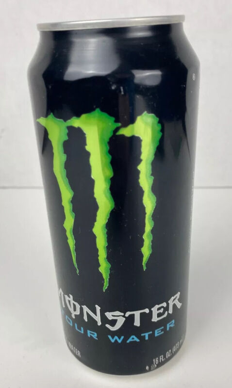 1 - 2010 Monster Warp Tour Water 16 Fl oz can Brand New Purified Water Promo Can