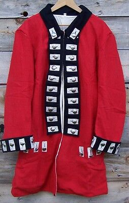 REVOLUTIONARY WAR BRITISH REGIMENTAL FROCK RED COAT 50