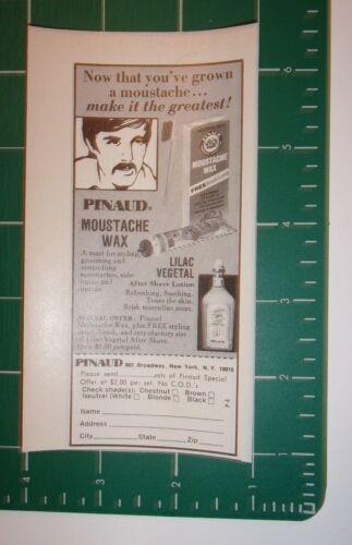 1973 Pinaud Moustache Wax Advertisement New York, NY
