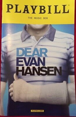 RARE  DEAR EVAN HANSEN Playbill OPENING NIGHT Ben Platt Rachel Bay Jones