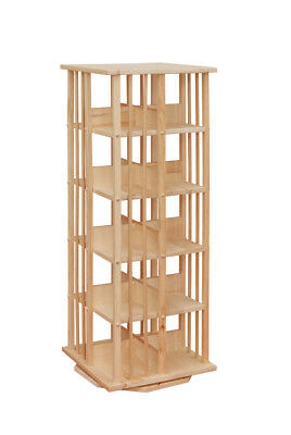 Storage Furniture 123 - AMISH UNFINISHED PINE ROTATING DVD Storage Rack 46