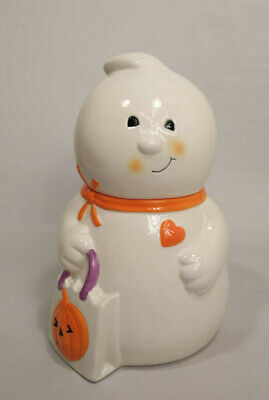 Hallmark Halloween Ghost Cookie Jar - Treat Canister Jar EUC