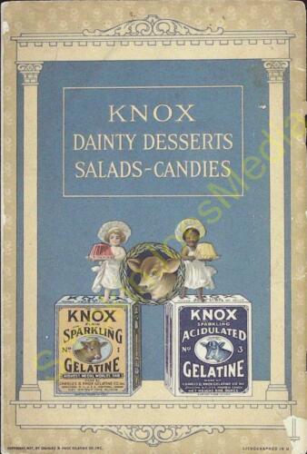 Vintage Advertisement Knox Gelatine Dainty Desserts Salads Candies 1927