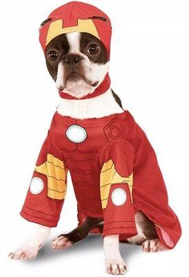 The Avengers Iron Man Marvel Comic Dog Costume NEW Rubies 580072 SMALL chihuahua (Iron Man Dog Costume)