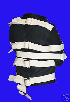 Used, Black Straight Jacket   3XL XXXL for sale  Shipping to India