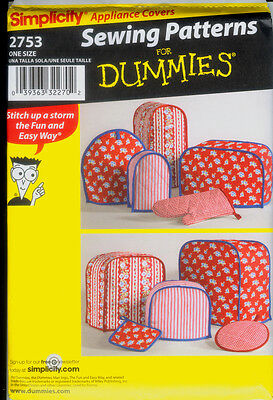 Simplicity Pattern 2753 for Appliance Covers, Pot Holders and Mitt