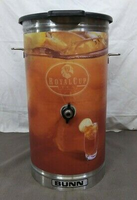 Bunn Stainless Steel Commercial Iced Tea Dispenser Urn Royal Cup No Handle