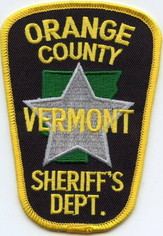 ORANGE COUNTY VERMONT VT SHERIFF POLICE PATCH