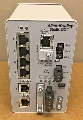 Allen Bradley 1783-bms06tga Stratix 5700 Ethernet Switch Mfg 2014
