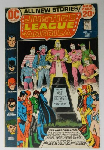 JUSTICE LEAGUE OF AMERICA #100 - DC 1972 G Vintage Comic