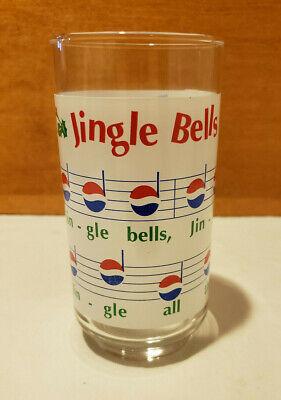 Vintage Pepsi Jingle Bells Christmas Libbey Drinking Glass
