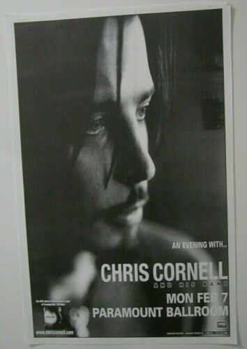 Chris Cornell And His Band Seattle Concert Original Show Poster soundgarden