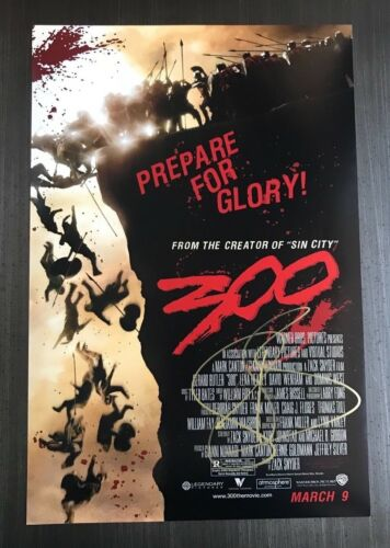 * GERARD BUTLER * signed autographed 12x18 poster photo * 300 MOVIE * 1