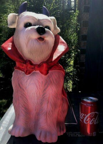 "17"" LED Puppy Dog Vampire Blowmold  Halloween Light Outdoor Plastic Schnauzer"
