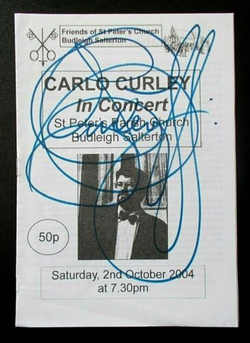 Carlo Curley In Concert signed programme St Peter