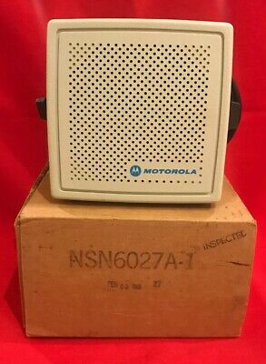 New Motorola Audio Amplifier External Radio Speaker Nsn6027a-1 Mt500mx300