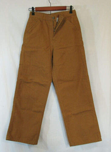 Carhartt Flannel Lined Cotton Canvas Pants Youth 14 new NWOT unworn smoke free!