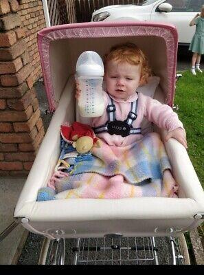 Silver Cross Pink Kensington Full Size Baby Pram