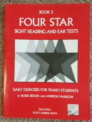 FOUR STAR Sight Reading & Ear Tests Book 2 - Daily Exercises for Piano - Four Star Sight