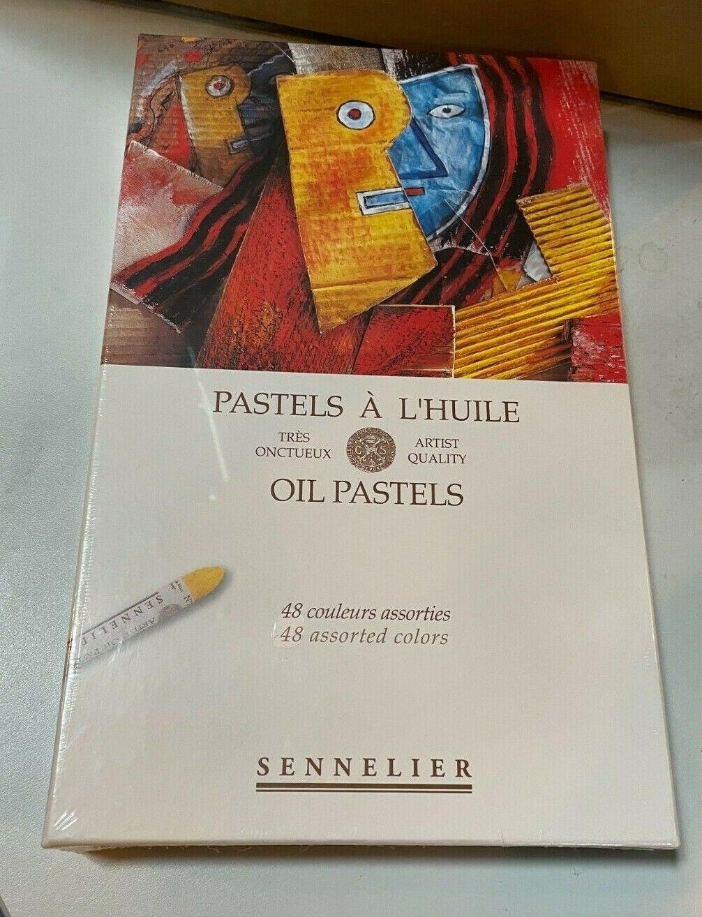 Sennelier Oil Pastels Cardboard Box Set of 48 Standard - Assorted Colors