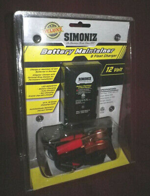 Deluxe Simoniz Battery Maintainer and Float Charger for 12 Volt Batteries
