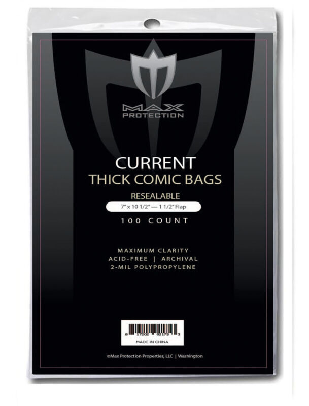 1000 Max Current Modern Age Comic Book Resealable Thick 7x10-1/2 BAGS & BOARDS