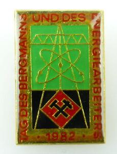 #e2036 DDR Abzeichen Tag des deutschen Bergmanns und des Energiearbeiters 1982