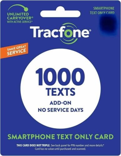 TracFone 1000 Text Add On