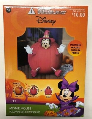 Mickey Mouse Pumpkin decorating Kit Disney Halloween Party decor trick or treat
