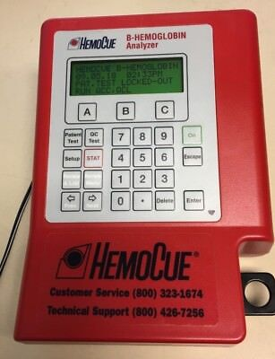 Hemocue B Hemoglobin Analyzer Used