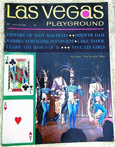Vintage 1964 Las Vegas Playground entertainment magazine Barbra Streisand