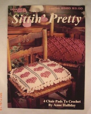 Sittin' Pretty - Leisure Arts Book 2520 - 4 Chair Pad Patterns to Crochet - Leisure Arts Pad