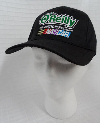 New Black Oreilly Auto Parts Store Cap Official Nascar Provider Adjustable Hat