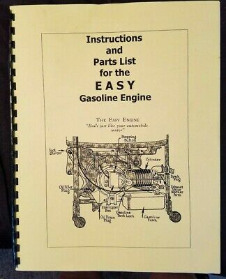 Easy Gasoline Engine Instructions Parts List Illustrated Hit Miss Reprint