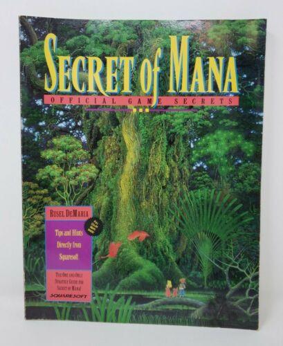 Vintage Secret of Mana SNES Official Game Secrets Strategy Guide