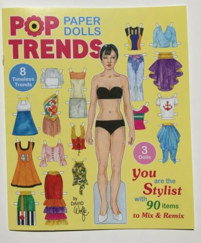 Dress up fun! POP TRENDS PAPER DOLLS - 90 Items to Mix and Match by David Wolfe