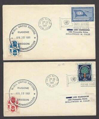 United Nations 1961 covers with MODEL UNITED NATIONS stamps (3)