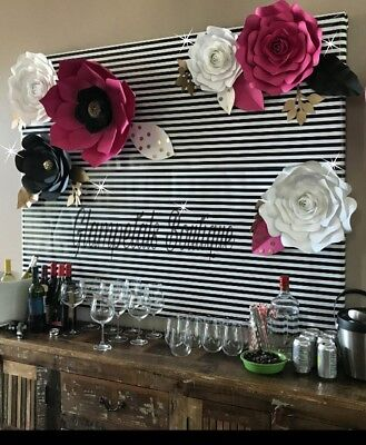 nd made paper flower ,party backdrop, event, wedding decor  (Kate Spade Party Decor)