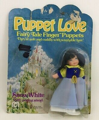 Puppet Love Mego Snow White Fairy Tail Finger Puppet Vintage 1977 Sealed