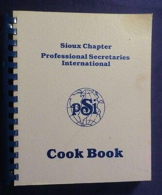 Vintage Sioux Chapter Psi International Spiralbound Cook Book