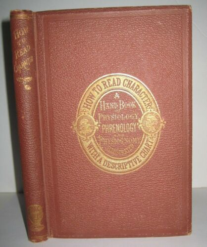 ANTIQUE_PHRENOLOGY Physiognomy_QUACK SCIENCE_NEGRO INDIAN JOSEPH SMITH_ c @ $295