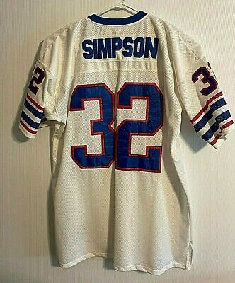 Throwback OJ Simpson #32 Mitchell Ness NFL Football Jersey Mens 58 Buffalo Bills Mitchell & Ness Football Jersey