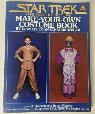 Halloween Costume Making Your Own (VINTAGE Star Trek Make Your Own Costume Book 1979  Cosplay Sci-Fi Halloween  )