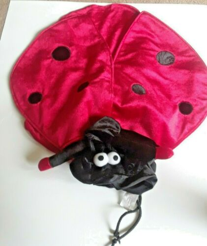 Dog Costume - Size m - Black And Red Lady Bug Cosplay Halloween Pet With Wings