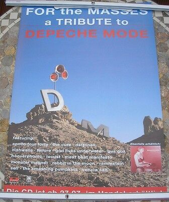 Depeche Mode  Tribute  For The Masses Promo 1998 Poster 33 X 23  Original