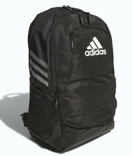 NEW ADIDAS STADIUM II TEAM SOCCER BACKPACK BAG  #5136891  BLACK  - $60 RETAIL