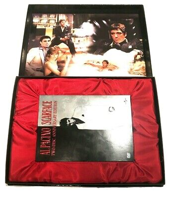 SCARFACE ANNIVERSARY AL PACINO DELUXE GIFT BOX 2 DVD SET TIE CLIP LOBBY CARDS