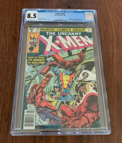 X-Men #129 CGC 8.5 White Pages 1st Appearance of Kitty Pryde & Emma Frost
